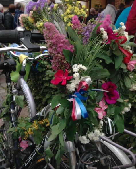 Les vélos fleuris
