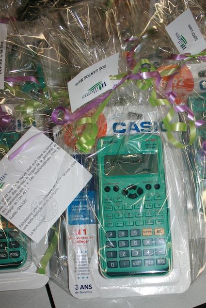 Remise des calculatrices aux futurs 6èmes