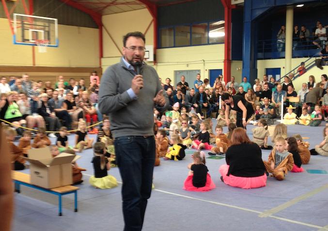 Fête de l'école maternelle Concorde, mot du maire Thierry Rolland