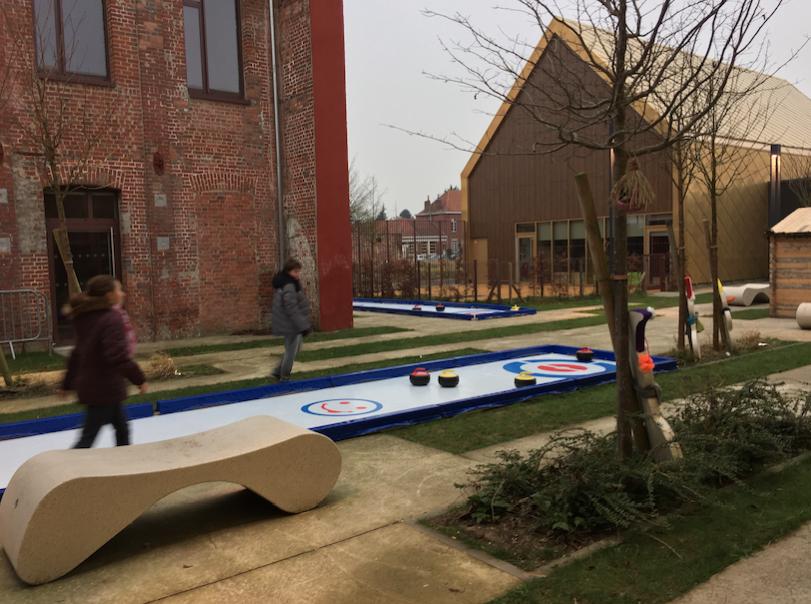 Marché de Noël les pistes de curling