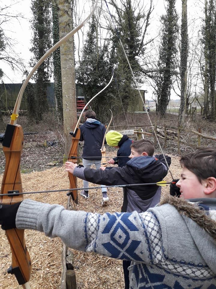 Sortie tir à l'arc et course d'orientation à la base de loisirs de Willems